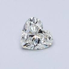 0.50-Carat Heart Diamond Very Good I VS2