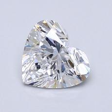 1.04-Carat Heart Diamond Very Good D IF