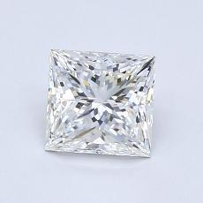 1,00-Carat Princess Diamond Very Good F VVS1