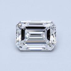 0,80-Carat Emerald Diamond Very Good D VVS2