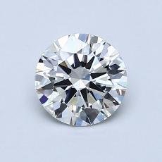 0.75 Carat 圓形 Diamond 理想 H IF