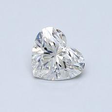 0.50-Carat Heart Diamond Very Good G VS2