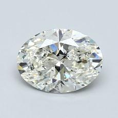 1.00-Carat Oval Diamond Very Good J SI2