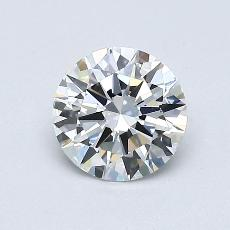 0,71-Carat Round Diamond Ideal E VVS1