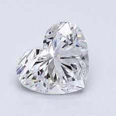 推薦鑽石 #4: 1.01 克拉心形切割鑽石