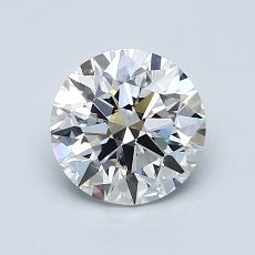1.11-Carat Round Diamond Ideal F VS1