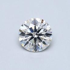0.53-Carat Round Diamond Ideal G SI1