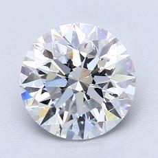 2.00 Carat 圆形 Diamond 理想 D VVS2
