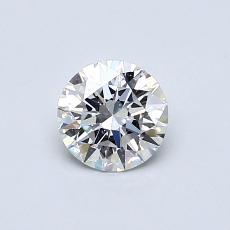 目标宝石:0.51克拉圆形切割钻石