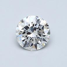 推荐宝石 1:0.70克拉圆形切割钻石