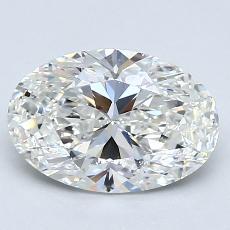 Piedra recomendada 1: Diamantes de talla ovalada de 1.72 quilates