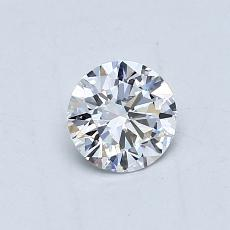 0,52 Carat Rond Diamond Idéale D VVS1