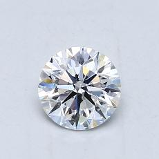 0,70-Carat Round Diamond Ideal E VS2