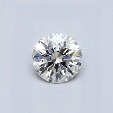 0.40-Carat Round Diamond Ideal H IF