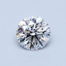 0.74 Carat 圆形 Diamond 理想 D VVS2