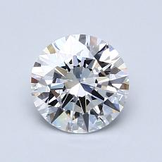 1.00-Carat Round Diamond Ideal D FL