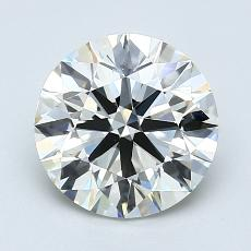 1,80-Carat Round Diamond Ideal K VVS2