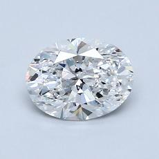 1.00-Carat Oval Diamond Very Good D VS1