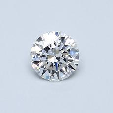0.40-Carat Round Diamond Ideal E VVS1