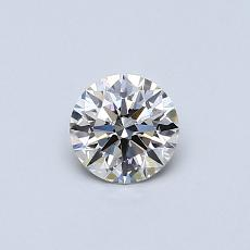 0,40-Carat Round Diamond Ideal J SI1
