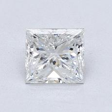 1.01 Carat 公主方形 Diamond 非常好 E VVS2