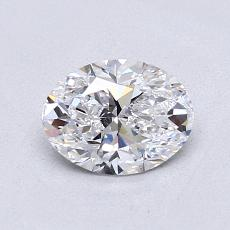 0.90-Carat Oval Diamond Very Good D VVS2