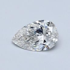 0.59-Carat Pear Diamond Very Good G SI1