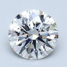 2.03-Carat Round Diamond Ideal D VVS1
