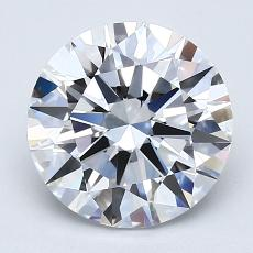 2.01-Carat Round Diamond Ideal D VVS2