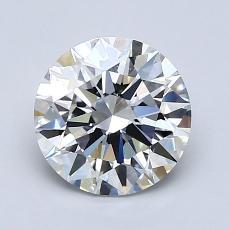 1,51 Carat Rond Diamond Idéale F VS1