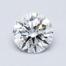 0,90-Carat Round Diamond Ideal D IF