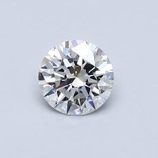 0,50 Carat Rond Diamond Idéale E VVS2