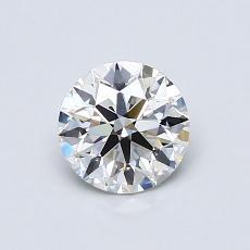 0,75-Carat Round Diamond Ideal I VS1