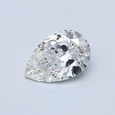 0,50 Carat Poire Diamond Très bonne G SI1