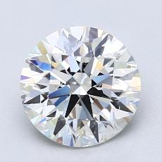 2.01-Carat Round Diamond Ideal E VS1