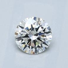 0.75-Carat Round Diamond Ideal I VS1