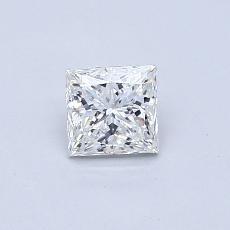 0,50 Carat Princesse Diamond Très bonne H VVS2
