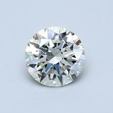 0.70-Carat Round Diamond Ideal K VVS2