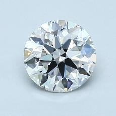 1,08-Carat Round Diamond Ideal H IF