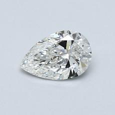 0,50-Carat Pear Diamond Very Good G VVS2