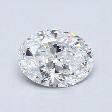 Pierre recommandée n°1: Diamant taille ovale 0,90 carat