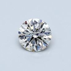 0.52-Carat Round Diamond Ideal I VVS2