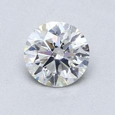 0.80-Carat Round Diamond Ideal G SI1
