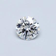 0.33-Carat Round Diamond Ideal D IF
