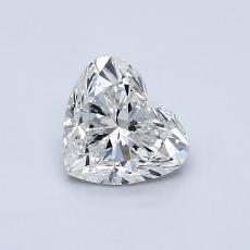 0,70 Carat Coeur Diamond Très bonne H SI2