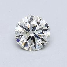 0,70-Carat Round Diamond Ideal K VS1
