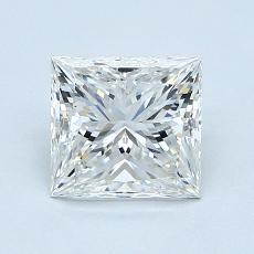1.20 Carat 公主方形 Diamond 非常好 H VVS2