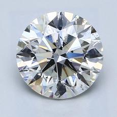 2.00 Carat 圆形 Diamond 理想 G SI2