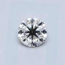0.50-Carat Round Diamond Good H VS2
