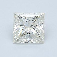 1.04 Carat 公主方形 Diamond 非常好 J SI1